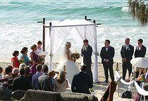 Beautiful Beach Wedding Ceremony at Snapper Rocks, Gold Coast Wedding Ceremony Ideas www.breezeweddins.com.au #snapperrocks #snapperrockswedding #coolangattawedding #beachwedding #goldcoastwedding #bambooarbor #bambooarch #bambooweddingarch #breezeweddingsaustralia #breezeweddingsaustralia