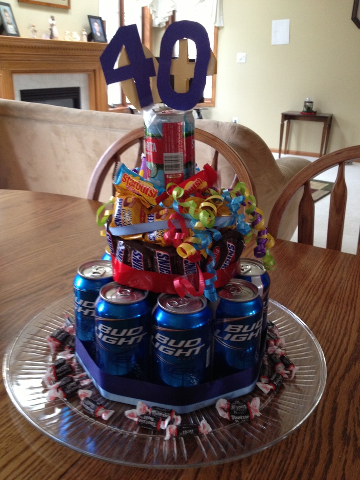 Beer Candy Birthday Cake For 40th Birthday But Has To Be