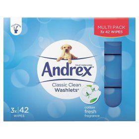 Andrex Washlets Moist Toilet Tissue Wipes