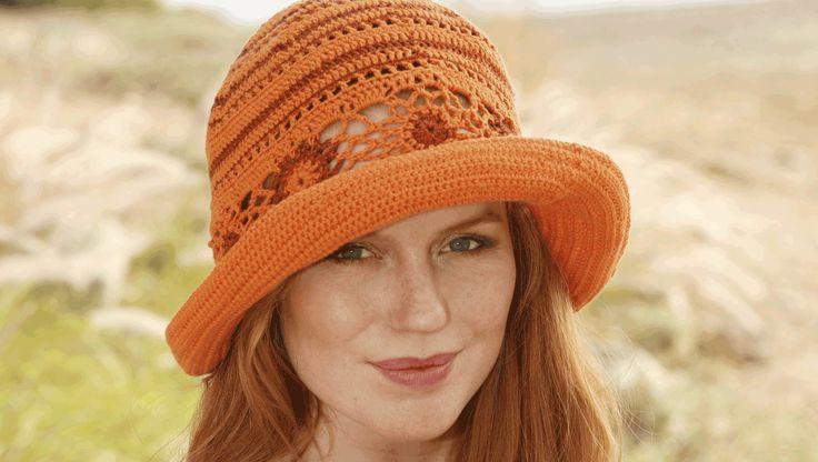 Hæklet hat til mine rødhårede piger