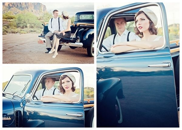 Bonnie and Clyde Themed Shoot