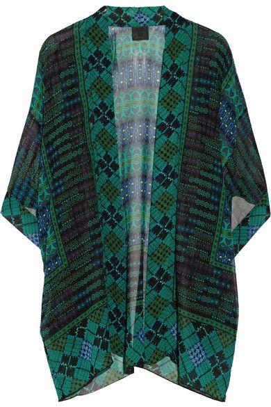 Anna Sui. Printed silk-georgette kimono-style jacket. $390