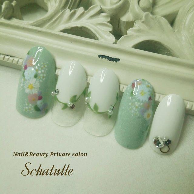 再販!5月末で修了!!春 フラワー リース ネイルチップ☆ by schatulle39 ファッション その他