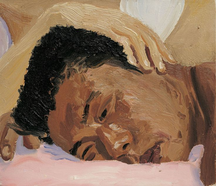 Liu Xiaodong, Sleep and Insomnia Series (Lovers), 1996, oil on canvas, 33 x 38 cm