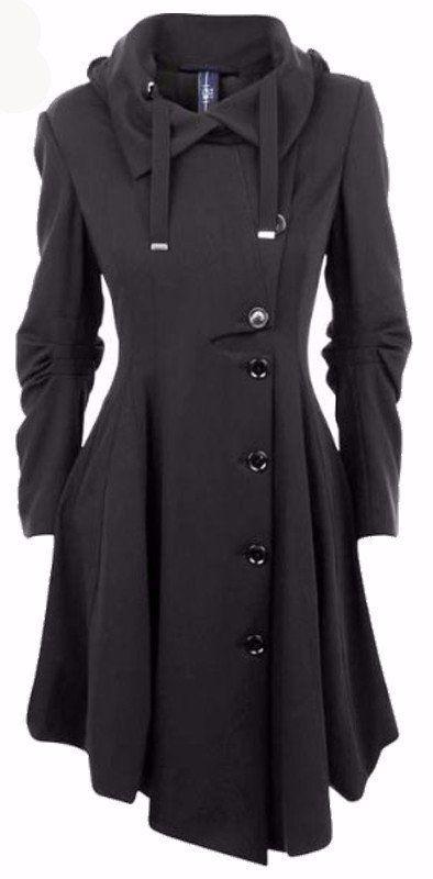 Rebel Goth - Single Breasted Overcoat