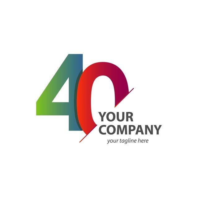 40 Tahun Ulang Tahun Vektor Template Bentuk Ilustrasi Template Design 40 Year Anniversary Illustration Design