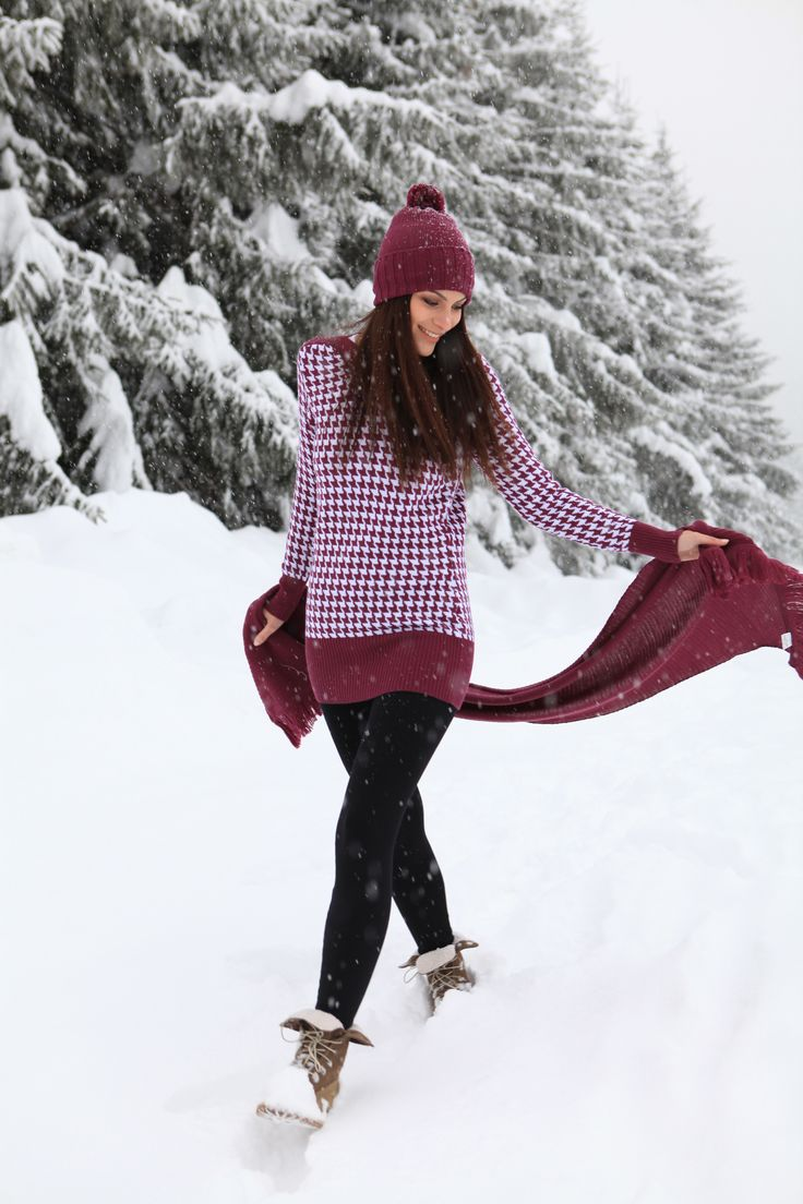 """""""Keep your heart warm"""" Mariapola Knitwear in Merinos Wool. Italian Manifacture and Fashion. Fall Winter 2014-2015. #winter #girl #freedom #natural #snow"""
