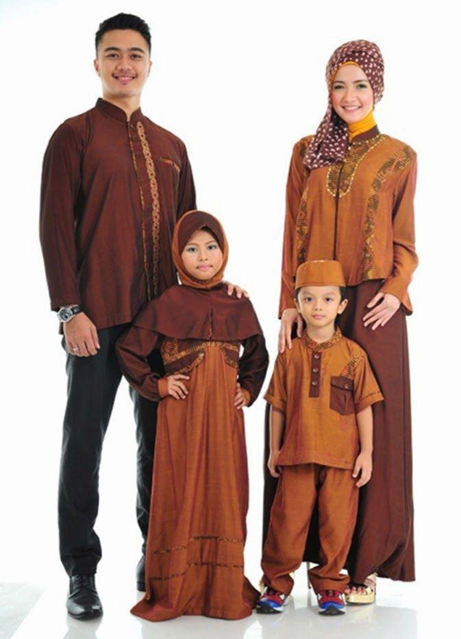 Contoh Baju Muslim Sarimbit Keluarga 2015