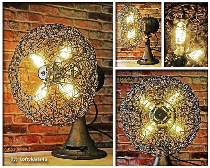 "https://flic.kr/p/MZAvfN | Check out this #original #repurposed #vintage #oneofakind ""Fan Favorite"" #tablelamp. This #antique #Emerson #electric #fan is now an #awesome #rustic and #industrial inspired #upcycled #lamp. The #twisted #wicker and #metal #cage update this #light with # 