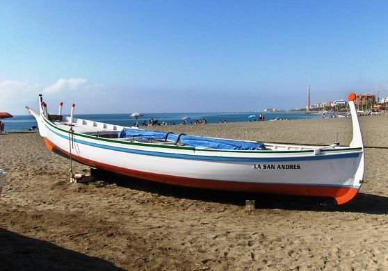 Playa Huelin on Antonio Banderas Boulevard in Malaga