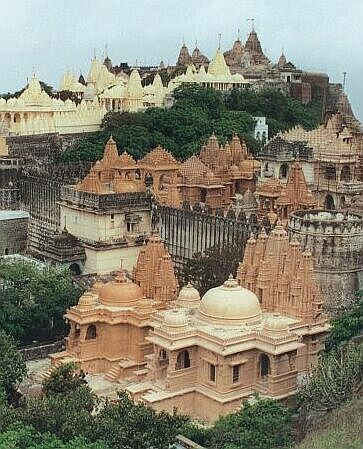 The Palitana Temples of Jainism on Mount Satrunjaya, Palitana, Gujarat, are considered the holiest of all pilgrimage places by Svetambara Jain community. the priests. India.