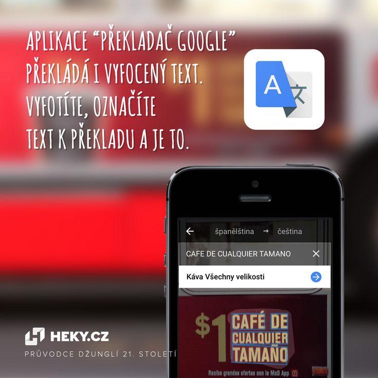 Aplikace Překladač Google překládá i vyfocený text