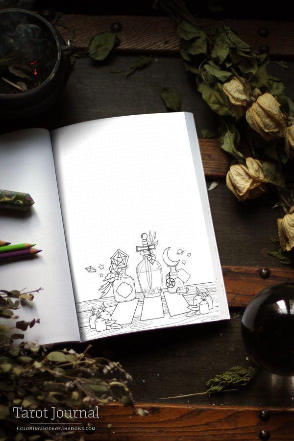 Tarot Journal Preview Release Date Tarot Book Witchcraft Books Grimoire Book