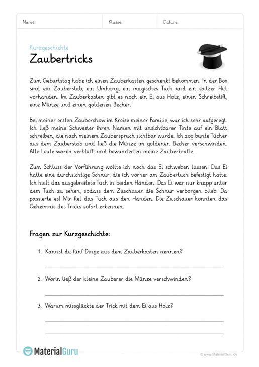 ein kostenloses arbeitsblatt zum thema kurzgeschichten auf dem die sch ler ein beispiel mit. Black Bedroom Furniture Sets. Home Design Ideas