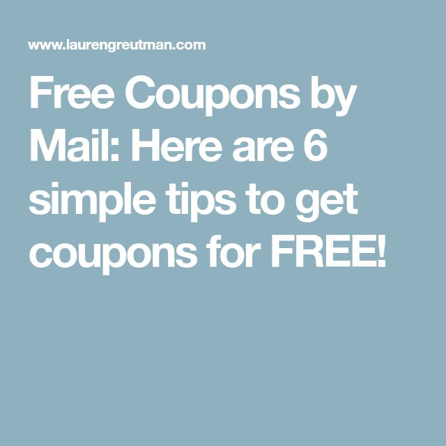 Free Coupons by Mail: Here are 6 simple tips to get coupons for FREE!