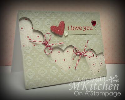 """Would be lovely with the Stacked with Love DSP. Use the Heart framelits to cut the """"banner"""" hearts."""