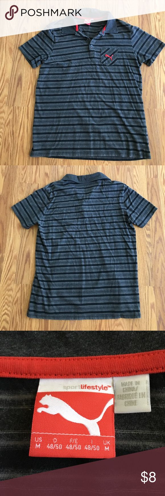 Gently Worn PUMA Collard Shirt Stay casual with this Men's PUMA Collard T-shirt! It's a seize Medium but runs a little small. Gently worn and still in great condition! 🔘👕🔘 Puma Shirts Tees - Short Sleeve