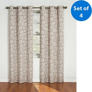Jeffrey wants blue and we're getting the green ones for Jonah :)  Eclipse Zodiac Energy-Efficient Curtain, Set of 4