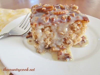 The Country Cook: Southern Pecan Praline Cake with Butter Sauce