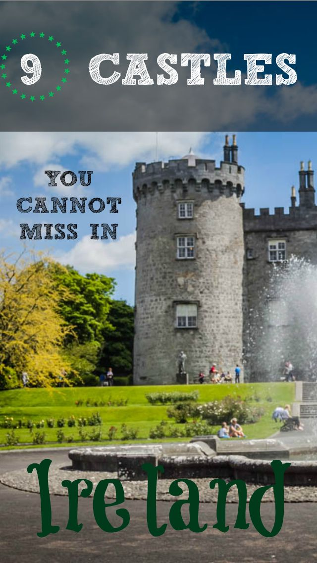 9 Castles You Cannot Miss in Ireland. It goes without saying that no matter how you shake it, your trip to Ireland will involve some castle stops. Lucky for you, Ireland is chalk full of them and you will not struggle to come across one around every corner. Check out the full post at http://www.divergenttravelers.com/9-castles-you-cannot-miss-ireland/