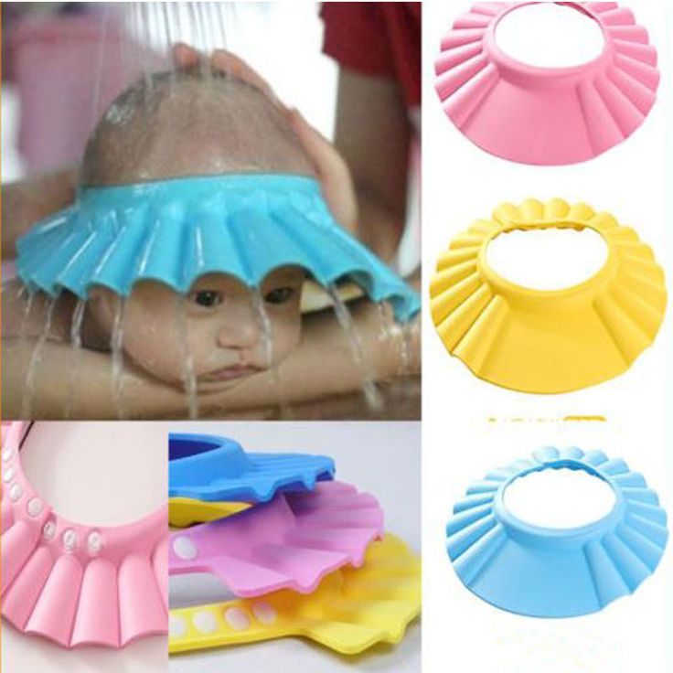 No water or soap can get into your baby's eyes with this little cap