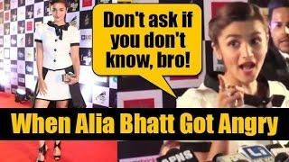 When Alia Bhatt got angry on a Reporter