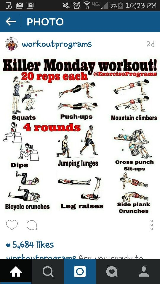 Monday work out