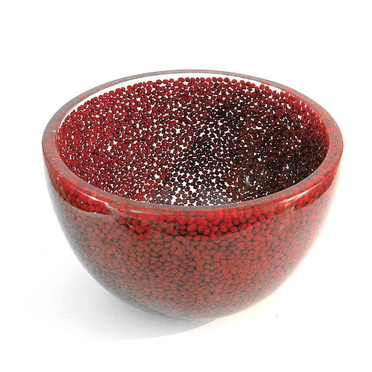 www.BeUnique.sk - Handemade Red Saga Seeds Deep Bowl