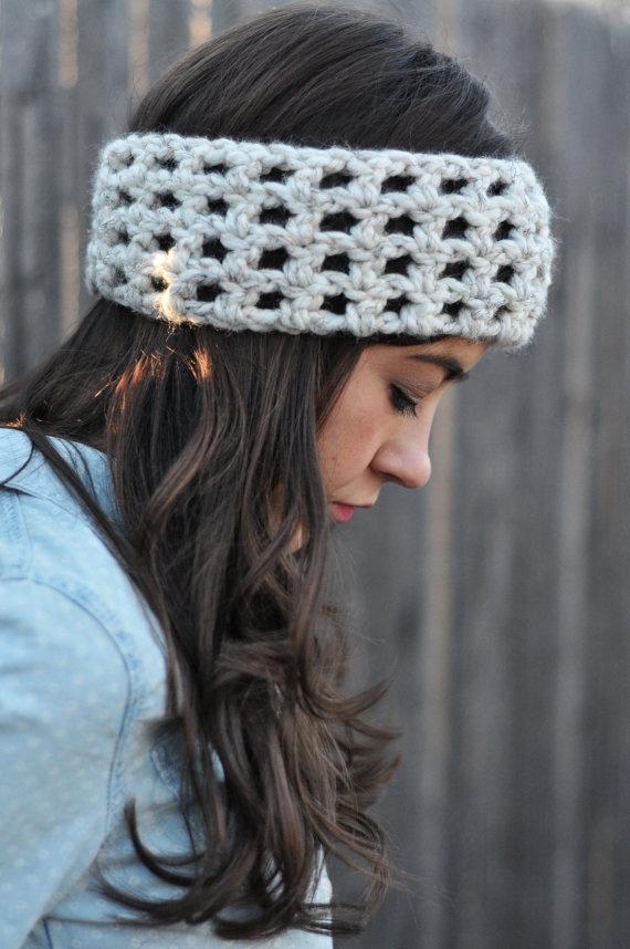 Chunky Crochet Wool Head Warmer Ear Warmer $15.00
