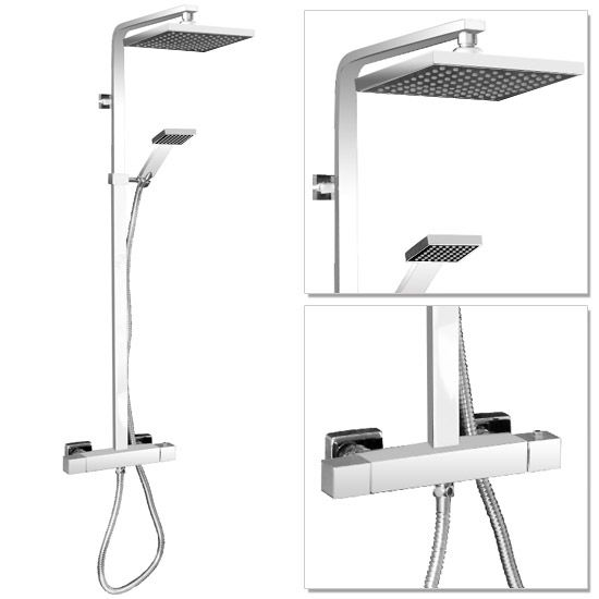 Milan Modern Chrome Thermostatic Shower   Product Code MIL002   Official VictorianPlumbing.co.uk™ Website   As Seen on TV   Excellent Trust Pilot Rating