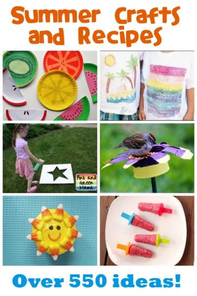 Summer Crafts  Recipes