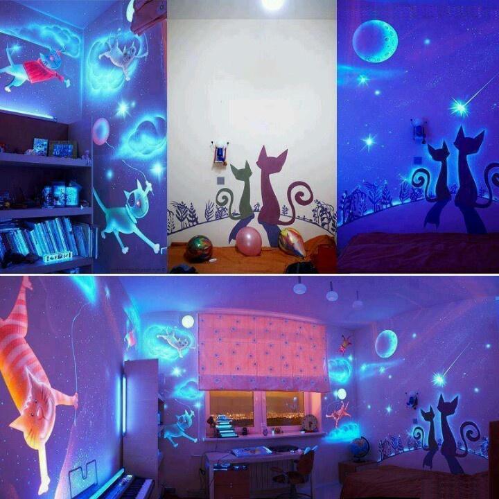 Glow in dark wall paint