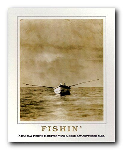 Impact Posters Gallery offers you this beautiful good day for fishing under clouds boat picture art print poster. This wonderful wall art will go well with all home décor patterns. It will make a great gift for those who love fishing. What are you waiting for? Grab this wonderful wall art for its perfect quality with wonderful color accuracy. Make your order today!