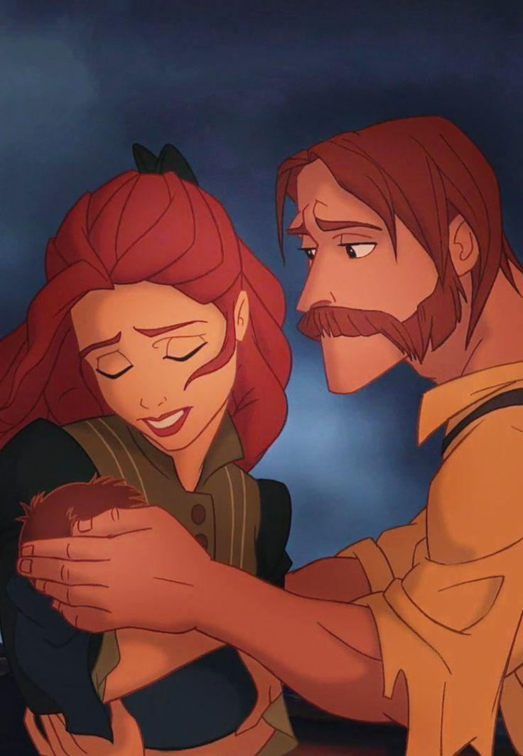 Tarzan's Parents, the mother looks so much like Princess Anastasia from the 20th Fox Century movie.