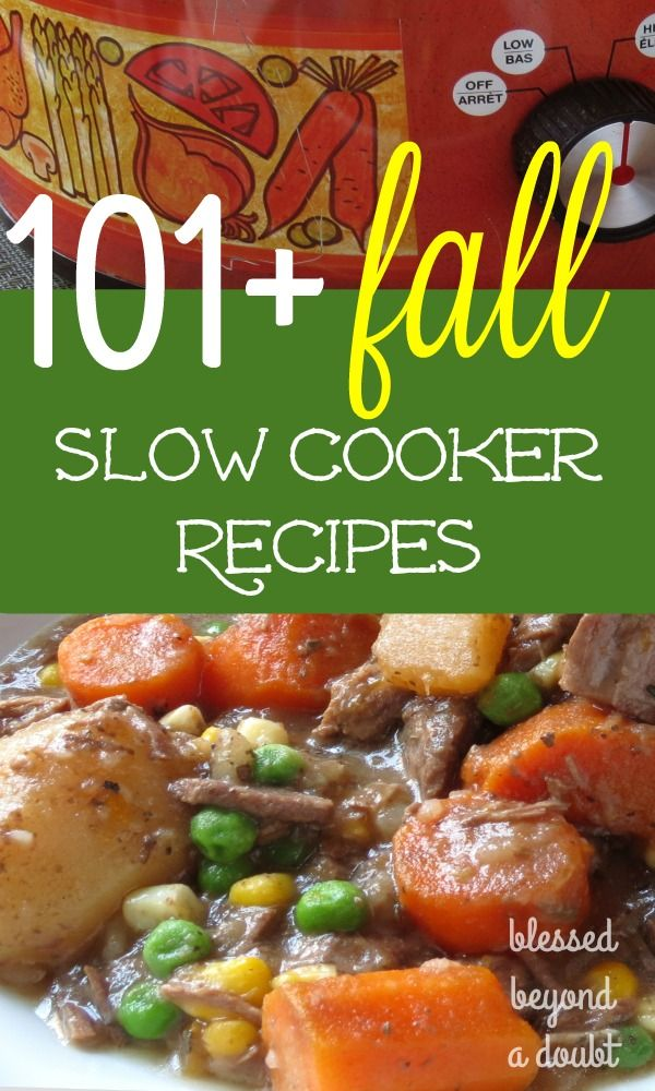 It's time to get your slow cooker yet! Here are over 101 slow cooker recipes to…