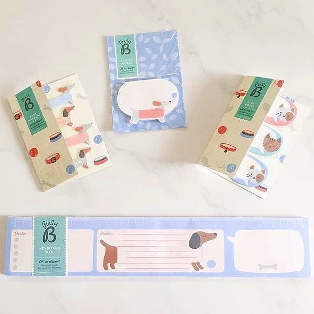 """It makes us hapy too @catttsays """"New stationery makes me happy 😍 thank you @cleverbusyb for my cute things! 🐶🐱💕"""" 📷: @catttsays"""