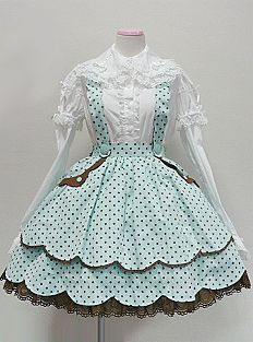 Angelic Pretty Dreamland Skirt (in Mint)