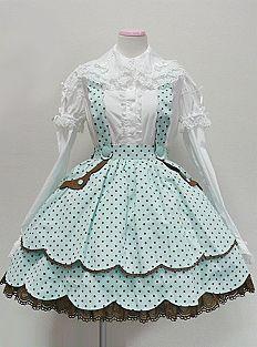 Angelic Pretty Dreamland Skirt (in Mint)
