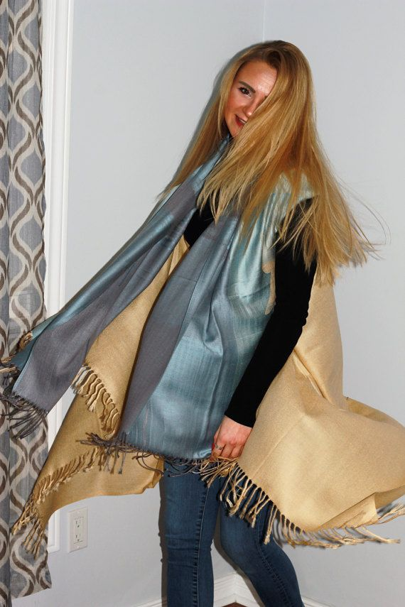 Light blue and beige cover-up by LLCozyCorner on Etsy