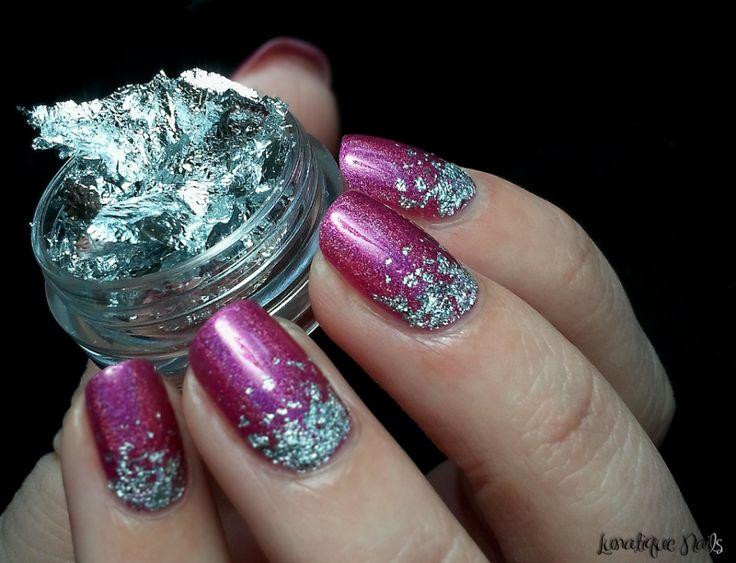 Nail Art // Rain Silver Leaf on 'My Kingdom For Glitters!' • Whimsical Octopus…