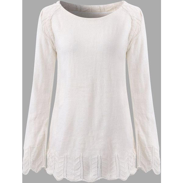 Yoins Stitching Design Flared Sleeves Maternity Jumper in White (£19) ❤ liked on Polyvore featuring maternity and white
