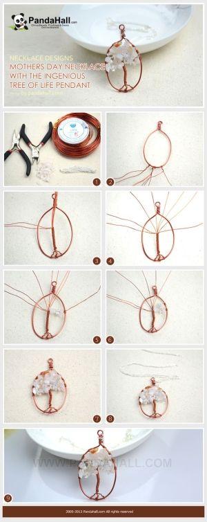 Gioielli Fare Tutorial / E è un popolare disegni collana su albero della vita ciondolo.  È possibile effettuare il filo avvolto ciondolo col...