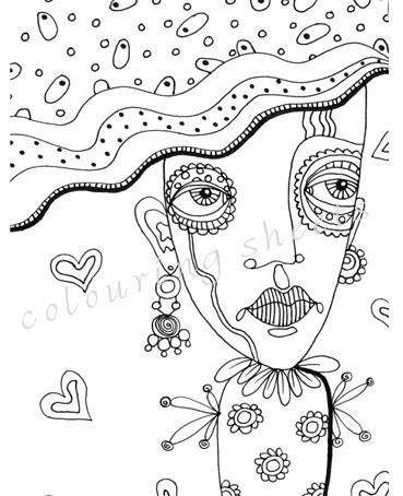 546 best images about Coloring Pages for Adults on Pinterest