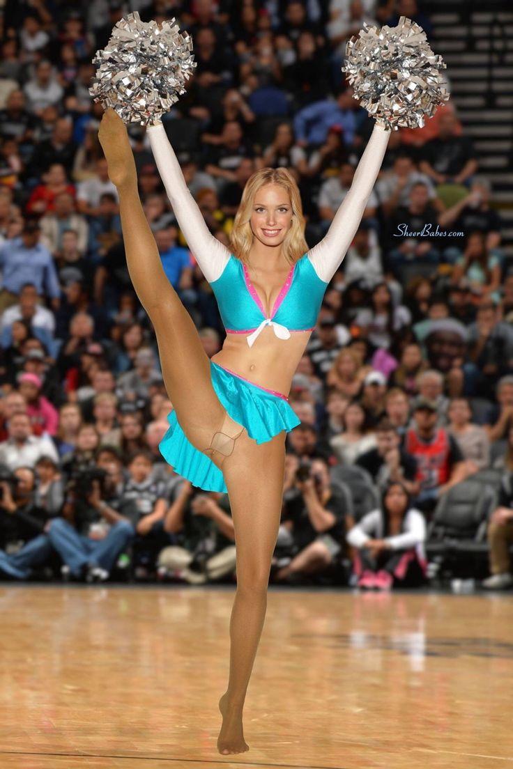 Pantyless cheerleader