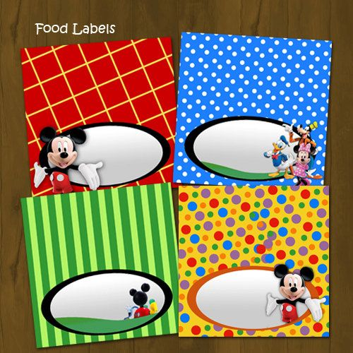 Mickey Mouse Clubhouse Printable Food Labels - Mickey ...