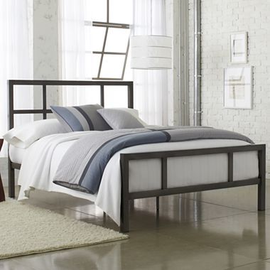 This bed with its open metal head board components is not only fashionable but a functional tool for grasping and adjusting positions while in bed -  Studio Spencer Metal Bed - jcpenney