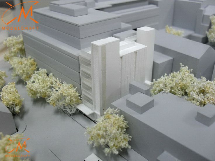 1:500 White Architectural Model by Modelcraft (NSW) Pty Ltd - 13008