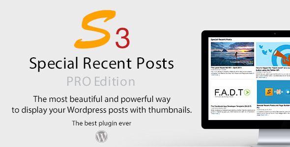 Special Recent Posts PRO Edition WordPress Plugin