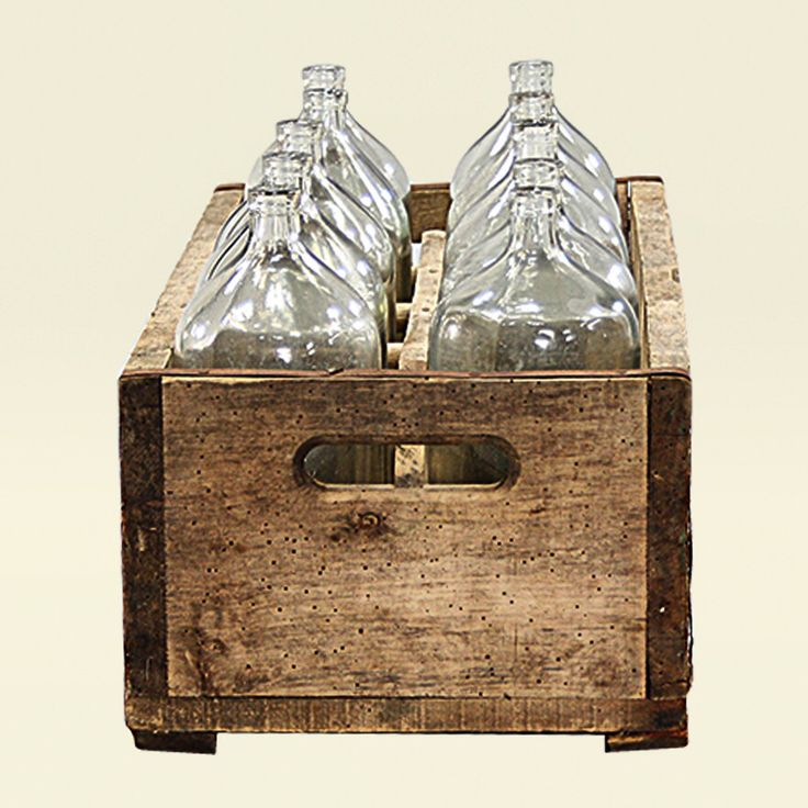 Here's the last of the bottles from Collection A, available online. Heavy base Victorian water bottles in their original crate. A cool decorative piece as is, or amazing filled with single stems.