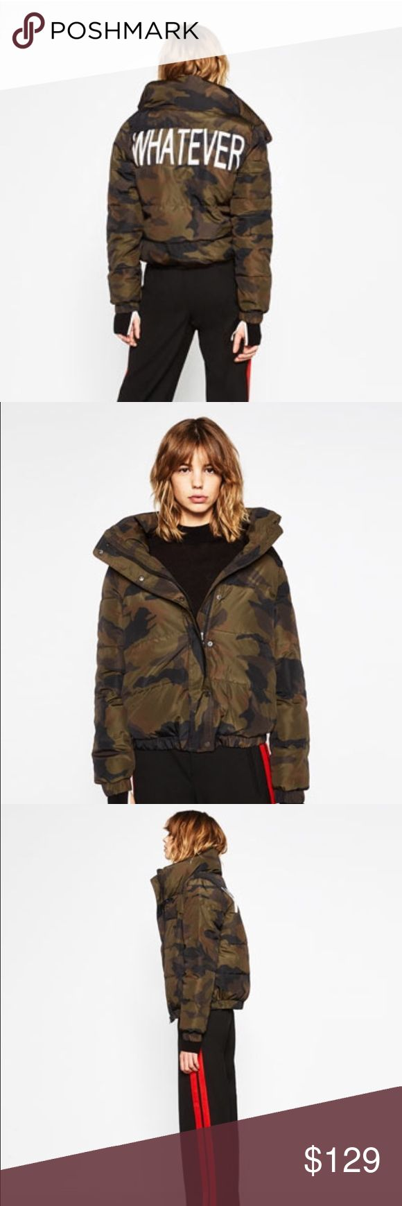 Zara jacket Brand new with tag Zara camouflage jacket in size Medium !! Super chic !! Bloggers favorite !! Sold out online and in stores !! Get it while you can !! 😡NO TRADE 😡 Zara Jackets & Coats
